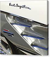 1961 Chevrolet Corvette Side Emblem 3 Canvas Print