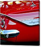 1961 Chevrolet Impala Taillight Emblem Canvas Print