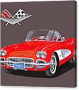 1961 Corvette Convertible Canvas Print