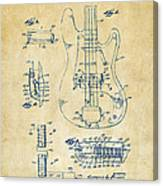 1961 Fender Guitar Patent Artwork - Vintage Canvas Print