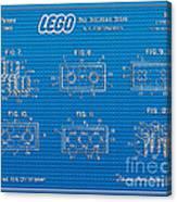 1961 Lego Building Blocks Patent Art 1 Canvas Print