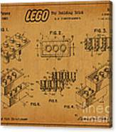 1961 Lego Building Blocks Patent Art 5 Canvas Print