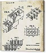 1961 Lego Patent Canvas Print