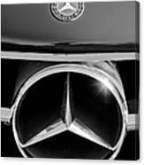 1961 Mercedes-benz 300 Sl Grille Emblem Canvas Print