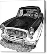 1961 Nash Metro In Black White Canvas Print