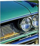 1961 Pontiac Bonneville Grille Emblem Canvas Print