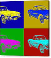 1962 Chevrolet Corvette Convertible Pop Art Canvas Print
