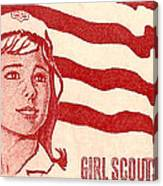1962 Girl Scouts Of America Postage Stamp Canvas Print
