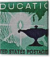 1962 Higher Education Stamp Canvas Print