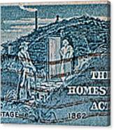 1962 Homestead Act Stamp Canvas Print