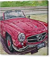 1962 Mercedes Benz 190sl Canvas Print