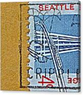 1962 Seattle World's Fair Stamp Canvas Print