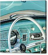 1962 Volkswagen Vw Beetle Cabriolet Steering Wheel Canvas Print