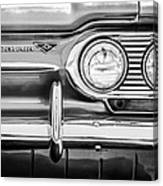 1963 Chevrolet Corvair Monza Spyder Headlight Emblem -0594bw Canvas Print