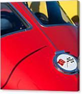 1963 Chevrolet Corvette Convertible Emblem Canvas Print