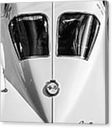 1963 Chevrolet Corvette Split Window -386bw Canvas Print