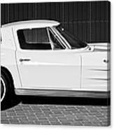 1963 Chevrolet Corvette Split Window -575bw Canvas Print