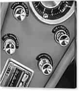 1963 Chevrolet Corvette Split Window Dash -334bw Canvas Print