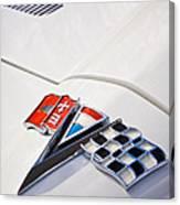 1963 Chevrolet Corvette Split Window Emblem -138c Canvas Print