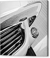 1963 Chevrolet Corvette Split Window Grille -221bw Canvas Print