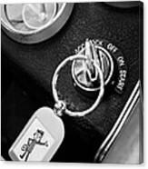 1963 Chevrolet Corvette Split Window - Mr Zip Key Ring -173bw Canvas Print