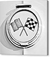 1963 Chevrolet Corvette Split Window - Sting Ray Emblem -257bw Canvas Print