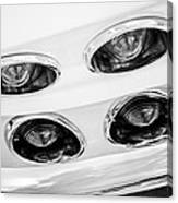1963 Chevrolet Corvette Split Window Taillights -240bw Canvas Print