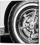 1963 Chevrolet Corvette Split Window Wheel -090bw Canvas Print