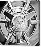 1963 Chevrolet Corvette Split Window Wheel -111bw Canvas Print
