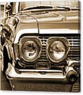 1963 Chevrolet Impala Ss In Sepia Canvas Print