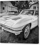 1963 Chevy Corvette Coupe Painted Bw    Canvas Print