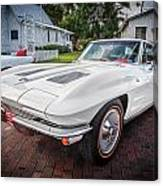 1963 Chevy Corvette Coupe Painted  Canvas Print