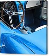 1963 Corvette Driver Approach Canvas Print