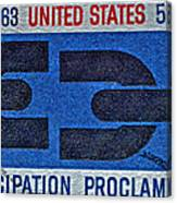 1963 Emancipation Proclamation Stamp Canvas Print