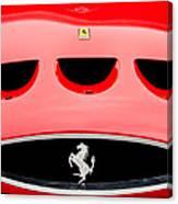 1963 Ferrari 250 Gto Grille Emblem -1753c Canvas Print