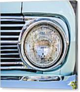 1963 Ford Falcon Futura Convertible Headlight - Hood Ornament Canvas Print