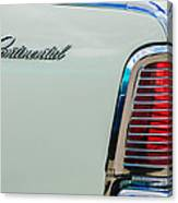 1963 Lincoln Continental Taillight Emblem -0905bw Canvas Print