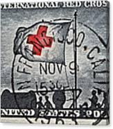 1963 Red Cross Stamp - San Francisco Postmark Canvas Print