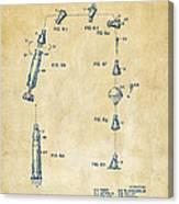1963 Space Capsule Patent Vintage Canvas Print