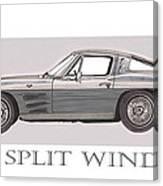 1963 Split Window Canvas Print