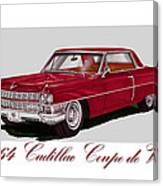 1964 Cadillac Coupe De Ville Canvas Print
