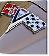 1964 Chevrolet Corvette Coupe Emblem Canvas Print
