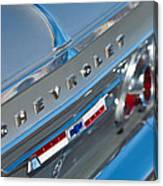 1964 Chevrolet Impala Taillights And Emblems Canvas Print