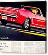 1964 - Ford Mustang Convertible - Advertisement - Color Canvas Print
