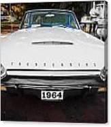 1964 Ford Thunderbird Painted Canvas Print