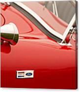 1964 Shelby Cobra 289 Street Roadster Emblem Canvas Print