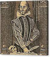 1964 William Shakespeare Postage Stamp Canvas Print