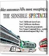 1965 - Rambler - Ambassador - American - Automobile Advertisement - Color Canvas Print