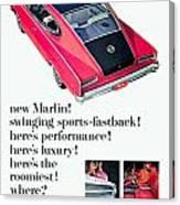 1965 - Rambler Marlin - Automobile Advertisement - Color Canvas Print