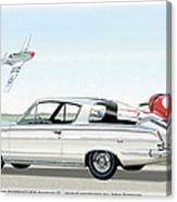 1965 Barracuda  Classic Plymouth Muscle Car Canvas Print
